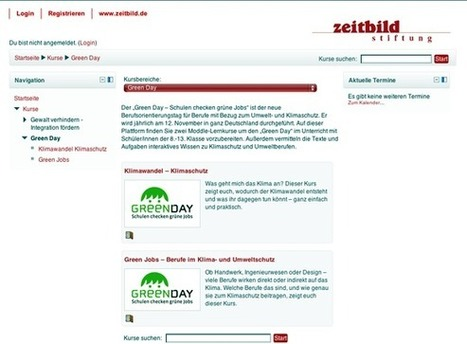 "Online-Lernangebote zum ""Green Day""   www.greenday2013.de   Grüne Jobs   Scoop.it"