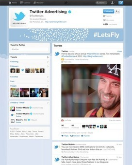Twitter Advertising: Let your brand take flight on Twitter with enhanced profile pages | SMB Social Media Monitor | Scoop.it