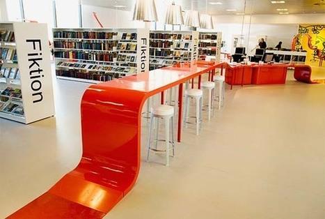 HJØRRING-Interior-Library-Design-by-Bosch-Fjord_3.jpg (580×391) | School Library Design | Scoop.it
