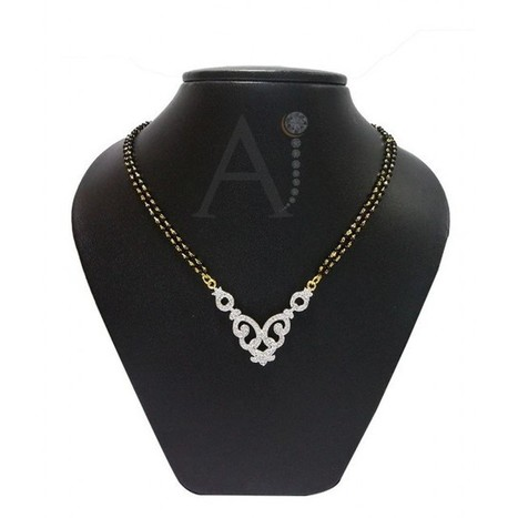Curvaceous Mangalsutra Set | American Diamond Jewellery | Scoop.it