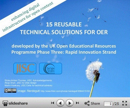 15 reusable technology solutions for OER : Jisc Digital Infrastructure Team | eLearning tools | Scoop.it