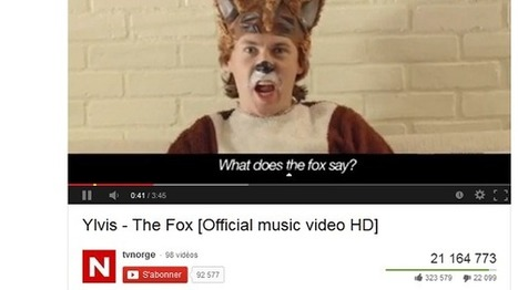 The Fox, le nouveau phénomène viral sur YouTube | Pépites du World Wide Web | Scoop.it