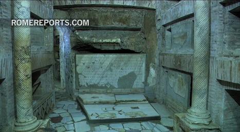 Descubren nuevos frescos del siglo III en catacumbas de San Calixto | Mundo Clásico | Scoop.it