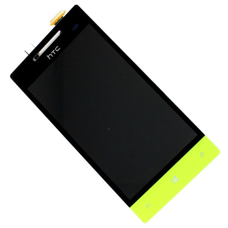 Genuine / Original HTC 8S Touch Screen Glass Digitizer + LCD Display Assembly Replacement Yellow + Open Tool   HTC LCD & Digitizer Peplacement   Scoop.it