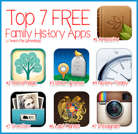 Top 7 Free Family History Apps for iPad, iPhone, Blackberry, or Android ~ Teach Me Genealogy | history class | Scoop.it