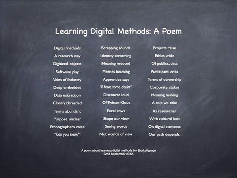 Learning Digital Methods: A Reflection | drkellypage | academic hipster | Scoop.it