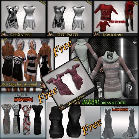 Dresses 9 Group Gifts For Women by AmAzInG CrEaTiOnS | Teleport Hub - Second Life Freebies | Second Life Freebies | Scoop.it