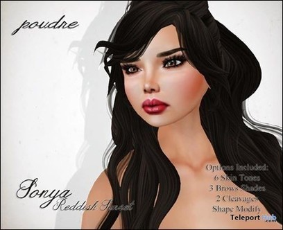 Sonya Reddish Sunset January 2015 Group Gift by POUDRE | Teleport Hub - Second Life Freebies | Second Life Freebies | Scoop.it
