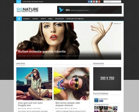 Blogger Templates For Profesional Bloggers: Signature Blogger theme | Blogger themes | Scoop.it