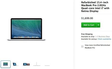 Refurbished Late 2013 15-Inch Retina MacBook Pro Now Available ... | Some topinc | Scoop.it