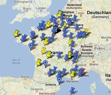 Carte des bibliothèques numériques en France | Auprès de nos Racines - Généalogie | Scoop.it