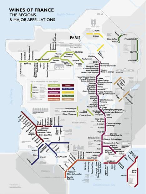 La france viticole à travers un plan de métro | Tag 2D & Vins | Scoop.it