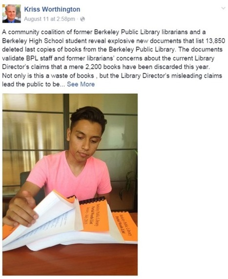 Berkeley Residents Protest 'Library-Gate' After Books Go Missing | Librarysoul | Scoop.it