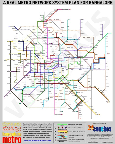 Namma Metro! A Conceptual Dream For a Real Bangalore Metro Network | IRCTC Info | Scoop.it