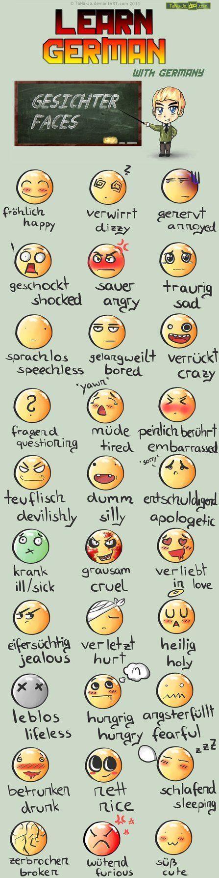Learn German - Smileys | Sections bilangues allemand-anglais ............................................. (ressources pour élèves et enseignants) | Scoop.it