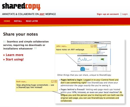 SharedCopy -ANNOTATE & COLLABORATE ON ANY WEBPAGE | Technology and Education Resources | Scoop.it