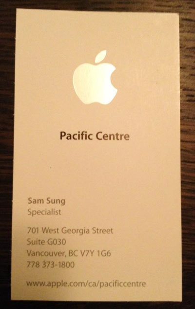Sam Sung travaille pour Apple à Vancouver ! | Jisseo :: Imagineering & Making | Scoop.it