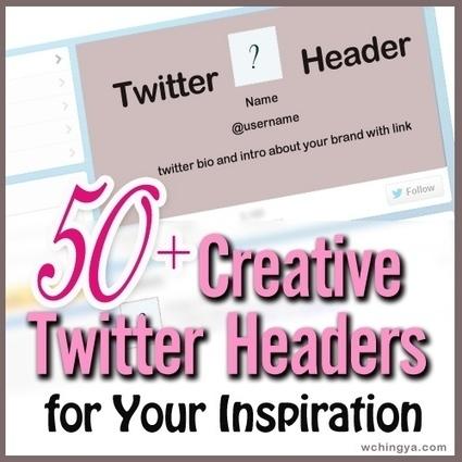 50+ Creative Twitter Headers for Your Inspiration | Social @ Blogging Tracker | Jimmy Vanderheyden | Scoop.it