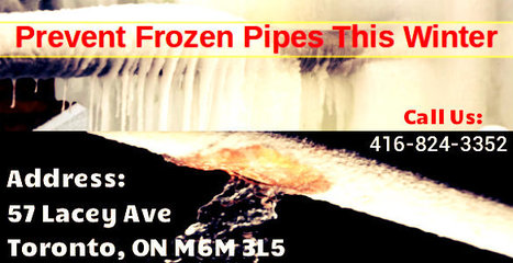 Frozen Pipes Repair & Preventing Water pipes Service In Toronto | Toronto Plumbing Repair | Scoop.it