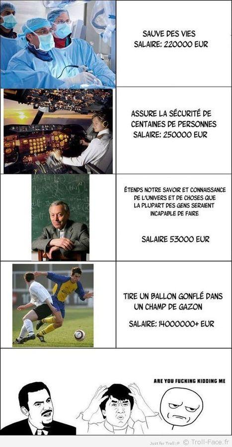 Fuck la logique des salaires!!!!   Trollface , meme et humour 2.0   Scoop.it