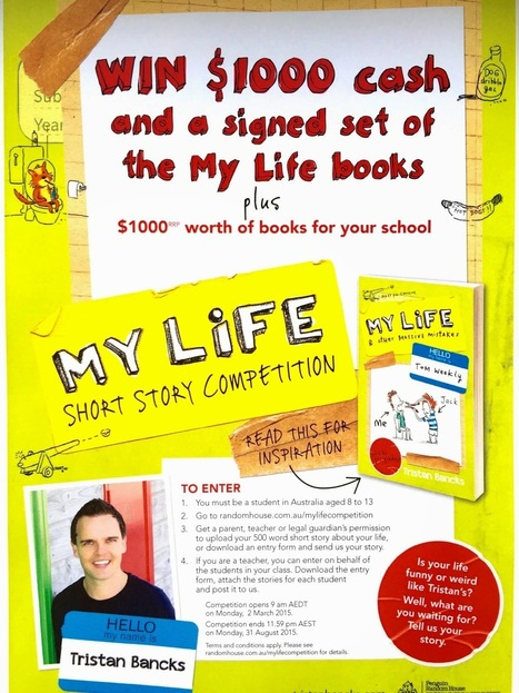 Tristan Bancks | Australian Children's & Teen Author | Kids' & YA Books: My Life Short Story Competition | Read all about it | Scoop.it