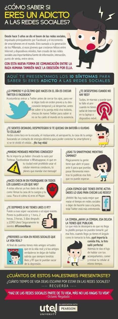 ¿Eres adicto a las Redes Sociales? #infografia #infographic #socialmedia   El rincón de mferna   Scoop.it