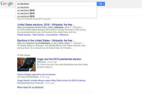 L'algorithme de Google, arbitre de la présidentielle américaine ? | Numérique, communication digitale et engagement | Scoop.it