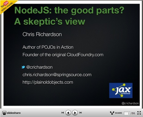 NodeJS: the good parts? A skeptic's view | Development on Various Platforms | Scoop.it