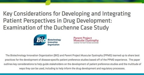 PPMD & BIO Release New Report on the Development of Disease-Specific Patient Preference Studies | Duchenne Muscular Dystrophy Research | Scoop.it