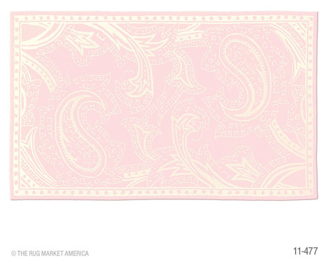 Rug Market Kids Giant Paisley Pink Ivory Cotton 11477 Rug  - Extra 20% OFF | Kids Rugs | Scoop.it