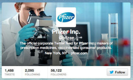 Pfizer finally acquires the @pfizer name on Twitter - PMLiVE | Integrated Commmunication in Healthcare | Scoop.it