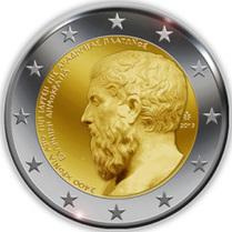 2€ Conmemorativos Grecia (1) 2013 - 2400º Aniversario de la Fundación de la Academia Platónica | Mundo Clásico | Scoop.it