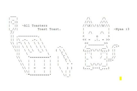 GoldieFox's DeviantArt Gallery | ASCII Art | Scoop.it