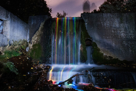 Illuminated Long Exposure Photos of Glowing Waterfalls | Public Relations & Social Media Insight | Scoop.it