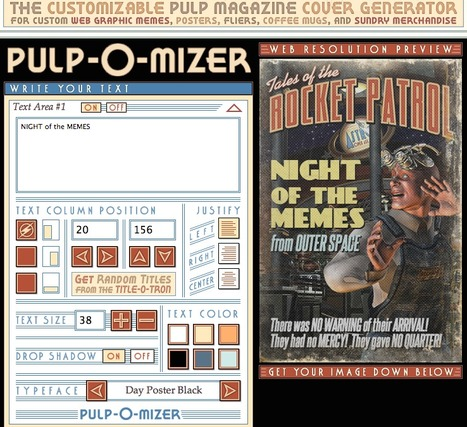 PULP-O-MIZER: the custom pulp magazine cover generator | Corpus Christi College ICT | Scoop.it