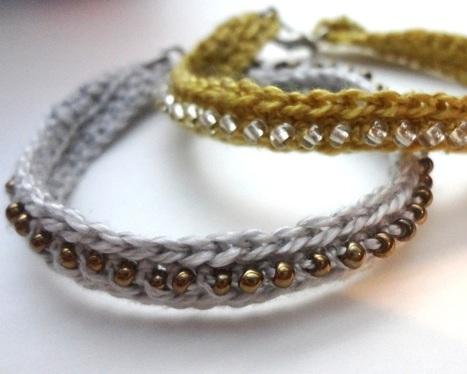 Crochet Seed Bead Bracelet | Beadweaving | Scoop.it
