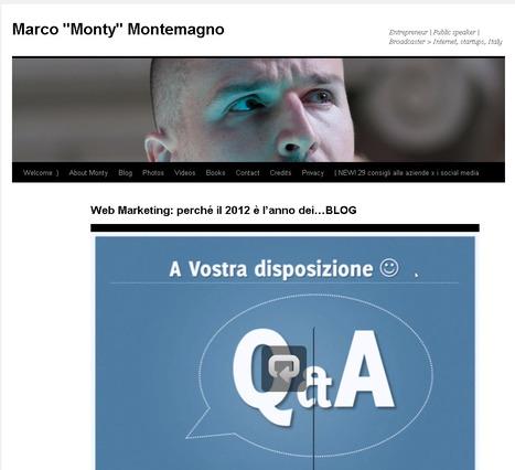 """Web Marketing: perché il 2012 è l'anno dei…BLOG (webinar)   Marco """"Monty"""" Montemagno   Crea con le tue mani un lavoro online   Scoop.it"""