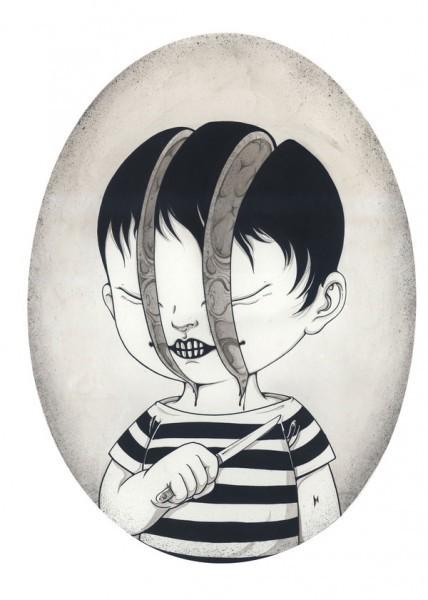 Les illustrations de Wei Yan, un petit air de black hole | freehand illustration and graphic design | Scoop.it
