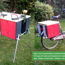 How I carry a workshop on the rear rack of my bicycle. | FabLab - DIY - 3D printing- Maker | Scoop.it