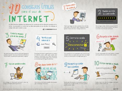 10 consejos útiles para el uso de Internet #infografía #infographic #internet | Ciberseguridad + Inteligencia | Scoop.it
