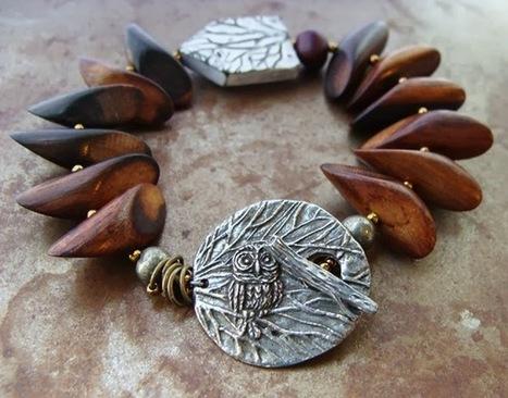Art Bead Scene Blog: Tutorial Tuesday: Winter Forest Bracelet | Polymer Clay | Scoop.it