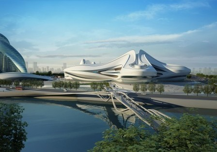 Changsha Meixihu International Culture & Art Centre / Zaha Hadid Architects | ARCHIresource | Scoop.it