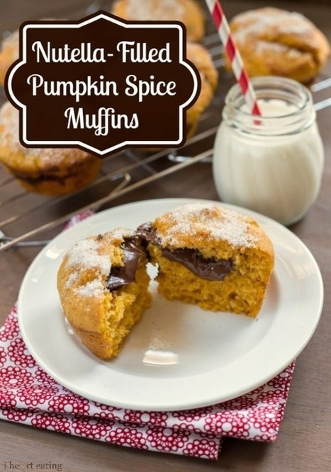 Nutella-Filled Pumpkin Spice Muffins - i heart eating | Just Chocolate!!! | Scoop.it