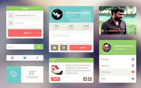 20+ UI Kits for Your Flat Web Designs Ideas - Sanjay | Free Photoshop Tutorials | Scoop.it
