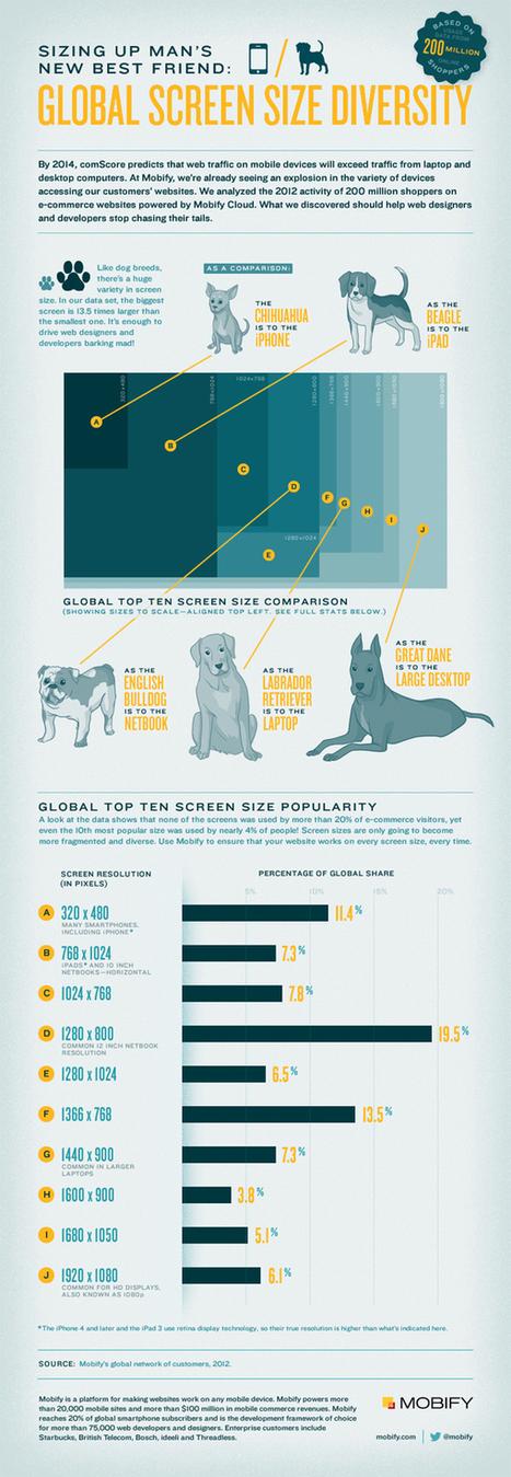 [Infographie] La diversité des résolutions d'écran : un casse tête pour les sites ? | Responsive design & mobile first | Scoop.it