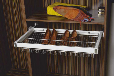 Klasse-Shoe-Rack-Pull-Out-W-Soft-Close-Runners   Modular-Kitchen   Scoop.it
