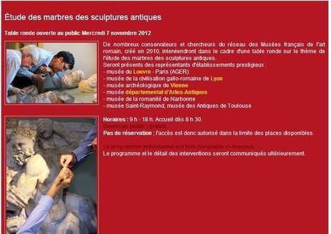 UTM - Master Sciences de l'Antiquité - Musée Saint Raymond Table ronde sur les marbres antiques le 7 novembre | Musée Saint-Raymond, musée des Antiques de Toulouse | Scoop.it
