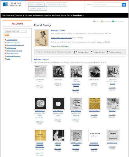 Primary Sources + Found Poetry = Celebrate Poetry Month | Teaching with the Library of Congress | Beyond the Stacks | Scoop.it