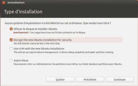 Chiffrer le disque de Ubuntu 12.10 dès l'installation | Time to Learn | Scoop.it