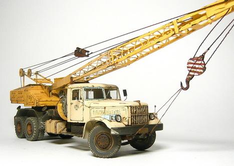 CS-4561A crane on KrAZ 257 <br/>Kherson model 1:43 | Military Miniatures H.Q. | Scoop.it